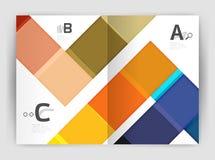 Uppsättning av framdelen och tillbaka sidor för format a4, mallar för affärsårsrapportdesign Arkivbilder