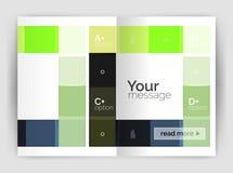 Uppsättning av framdelen och tillbaka sidor för format a4, mallar för affärsårsrapportdesign Royaltyfri Bild