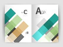 Uppsättning av framdelen och tillbaka sidor för format a4, mallar för affärsårsrapportdesign Arkivbild