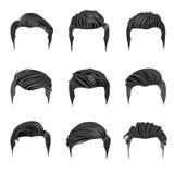 Uppsättning av frisyrer för man` s Arkivbild