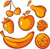 Uppsättning av frukt Fotografering för Bildbyråer