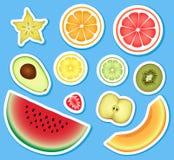Uppsättning av frukt Royaltyfria Bilder
