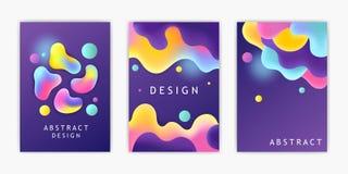 Uppsättning av futuristiska affischer mall abstrakt datalistor också vektor för coreldrawillustration vektor illustrationer
