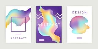 Uppsättning av futuristiska affischer mall abstrakt datalistor vektor stock illustrationer
