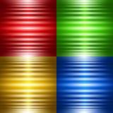 Uppsättning av fyra abstrakta bakgrunder med lysande band Arkivbilder
