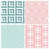 Uppsättning av fyra fyrkantiga modeller för illusion Royaltyfri Foto