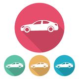Uppsättning av fyra plana stilbilar stock illustrationer