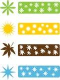 Uppsättning av fyra säsongsymboler Arkivbild