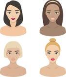Flickor - uppsättning av vektorsymboler royaltyfri illustrationer