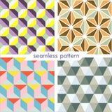 Uppsättning av fyra vektor sömlös geometrisk patterns_9 Royaltyfri Fotografi