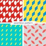 Uppsättning av fyra vektor sömlös geometrisk patterns_10 Royaltyfria Foton