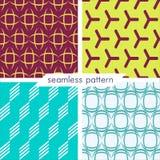 Uppsättning av fyra vektor sömlös geometrisk patterns_12 Arkivbild
