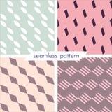 Uppsättning av fyra vektor sömlös geometrisk patterns_15 Royaltyfria Bilder