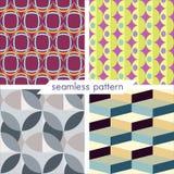 Uppsättning av fyra vektor sömlös geometrisk patterns_11 Royaltyfri Fotografi