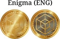 Uppsättning av fysiskt guld- myntEnigma ENGELSKA Arkivfoto