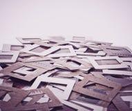 Uppsättning av gamla glidbanor för tappning, foto Arkivfoto