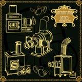 Uppsättning av gamla projektorer för tappning royaltyfri illustrationer