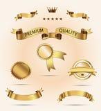 Uppsättning av garanti för överlägsen kvalitet och tillfredsställelse Royaltyfri Bild