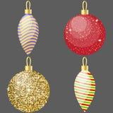 Uppsättning av garnering för 4 jul stock illustrationer