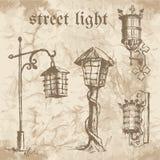 Uppsättning av gatalampan royaltyfri illustrationer