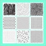 Uppsättning av geometrisk abstrakt färgrik modern bakgrund Arkivfoton