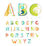 Uppsättning av geometriska abstrakta färgrika reklamblad Arkivfoton