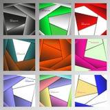 Uppsättning av geometriska bakgrunder för abstrakt vektor Royaltyfri Bild
