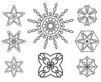 Uppsättning av geometriska beståndsdelar för fnurendesign stock illustrationer
