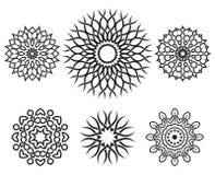Uppsättning av geometriska beståndsdelar för fnurendesign Arkivbild