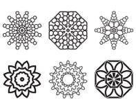 Uppsättning av geometriska beståndsdelar för fnurendesign Royaltyfri Fotografi