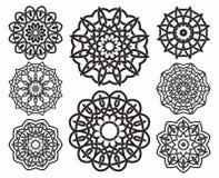 Uppsättning av geometriska beståndsdelar för fnurendesign Royaltyfria Bilder