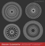 Uppsättning av geometriska hipsterformer och logotypes6547black vektor illustrationer