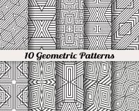 Uppsättning av 10 geometriska modeller Arkivbilder
