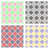 Uppsättning av geometriska modeller för sömlös vektor stock illustrationer