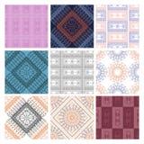 Uppsättning av geometriska modeller för sömlös vektor med dekorativa beståndsdelar Royaltyfri Foto