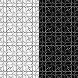 Uppsättning av geometriska prydnader black mönsan seamless white