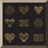 Uppsättning av geometriska symboler Royaltyfri Illustrationer