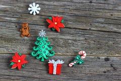 Uppsättning av glad jul Royaltyfri Fotografi