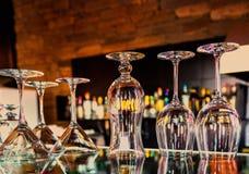Uppsättning av glass bägare Royaltyfria Foton