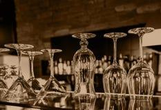 Uppsättning av glass bägare Royaltyfri Fotografi