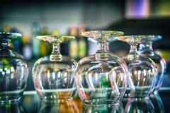 Uppsättning av glass bägare Arkivfoto
