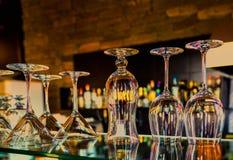 Uppsättning av glass bägare Royaltyfri Bild