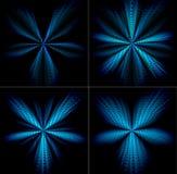 Uppsättning av gnista av stjärnor vektor illustrationer