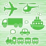 Transportsymboler Fotografering för Bildbyråer
