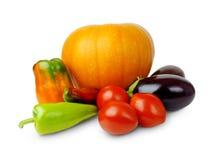 Uppsättning av grönsaker Arkivfoto