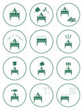 Uppsättning av grillfestsymboler Royaltyfri Fotografi