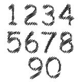 Uppsättning av grungenummer Fotografering för Bildbyråer