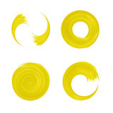 Uppsättning av gulingrundabeståndsdelen för design Royaltyfria Bilder