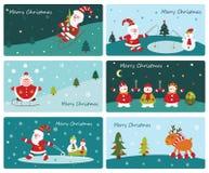 Uppsättning av gulliga julbaner vektor illustrationer