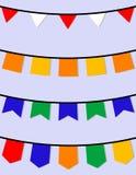 Uppsättning av hängande flaggor Royaltyfri Fotografi